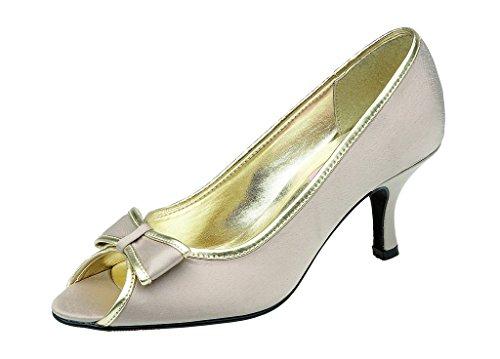 LEXUS - Zapatos con tacón mujer Beige - gris