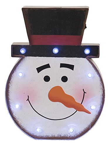 Outdoor Lighted Snowman Head in US - 5