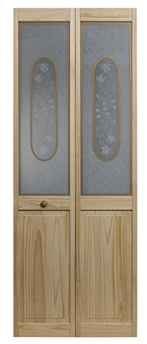 Pinecroft 812728 Elizabthian Half Glass Bifold Interior Wood Door, 32'' x 80'', Unfinished by RT Designers Collection (Image #3)