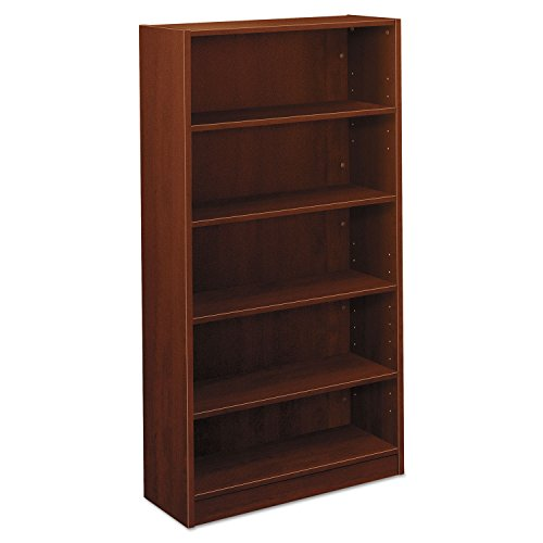 Basyx BL2194A1A1 BL Laminate Series Five Shelf Bookcase, 32w x 13 13/16d x 65 3/8h, Medium Cherry