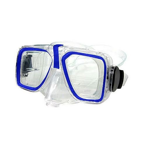 Ocean Quest Arctic Clear High Definition Purge Mask Blue (Nose Mask Quest)