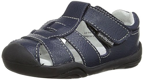 pediped Sydney Grip-N-Go Fisherman Sandal (Toddler/Big Kid),Navy,19 EU (4-4.5 M US Toddler)