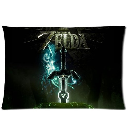 XuLuo The Legend of Zelda Pillowcase Custom Cushion Case Zippered Two Sides Printed 20x30 Inches Fasfion Design Cotton Throw Pillow Cover