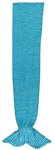 Warm Knitted Mermaid Tail Blanket (Marine -