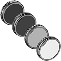 Neewer for DJI Phantom 4, DJI Phantom 3 Advanced and Professional, Multi-coated 4 Pieces Filters: UV Filter + CPL Filter + Neutral Density Filter (ND16) + ND Fader Adjustable Filter ND2-ND400