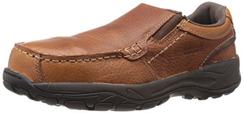 Rockport Work Men's Extreme Light RK6748 Casual Slip On, Brown, 10.5 W US (Rockport Toe Moc)