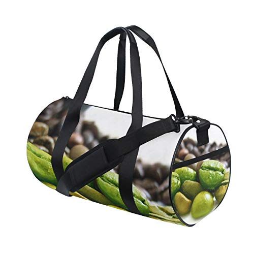 OuLian Gym Bag The Best Coffee Womens Yoga Canvas Duffel Bag Cute Sports Bag for Mens