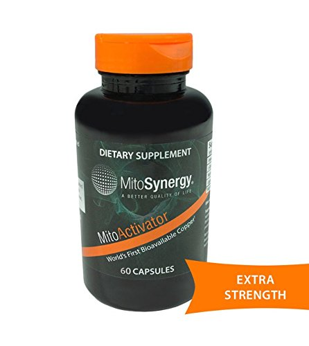 MitoSynergy - MitoActivator Extra Strength - Highly Bioavailable Copper Mineral Supplement - Patented Nutrient Complex - 60 - Mg Capsules 0.5
