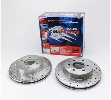 BAER 05437-020 Sport Rotors Slotted Drilled Zinc Plated Front Brake Rotor Set Pair Baeer Brakes