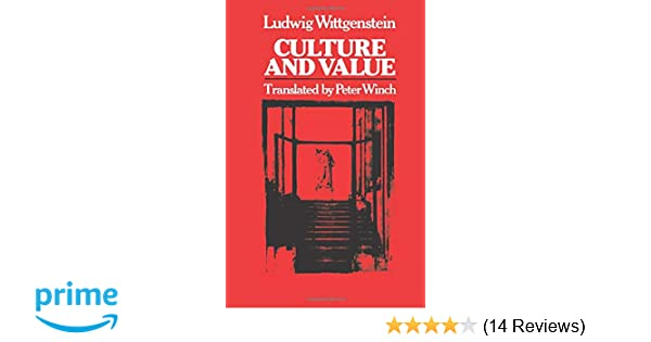 Culture And Value Wittgenstein Pdf