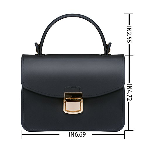 Top Handle Clutch Handbags Jelly Crossbody Bags for Women Tote Purse - Black by Chrysansmile (Image #3)