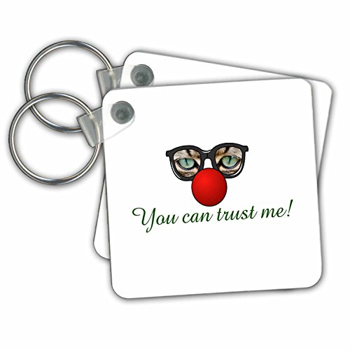 Sven Herkenrath Quotes - You Can Trust Me Funny Cat Sunglasses Animal Quotes - Key Chains - set of 2 Key Chains - Trust You Sunglasses Can
