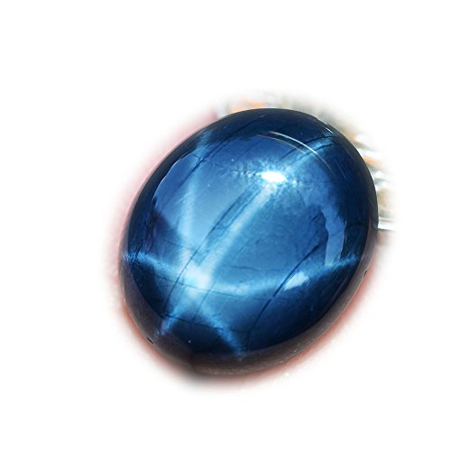 10.57ct Natural Cabochon Blue Stars Sapphire 6 Ray Thailand #B by Lovemom
