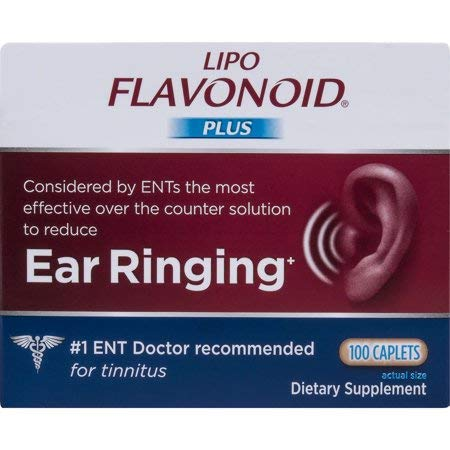 Lipo-Flavonoid Plus Ear Health Supplement, 100 Caplets (Pack of 2) qwt&ejg