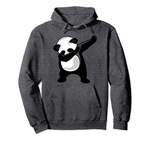 Unisex Dabbing Panda Hoodie - Giant Panda Bear Dab Dance Hoodie Large Dark Heather -