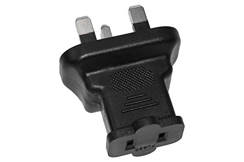 SF Cable, 2 Prong to 3 Prong Plug Adapter, USA NEMA 1-15R Receptacle to Fused UK (BS1363)