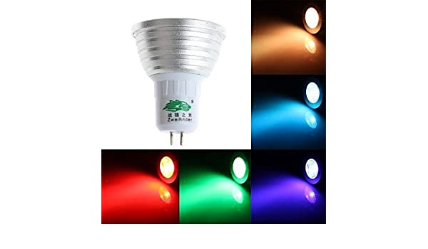 HJLHYL MND Focos Regulable/Control Remoto/Decorativa Zweihnde S GU5.3 3 W 1 LED Dip 200-250 LM K RGB AC 85-265 V - - Amazon.com
