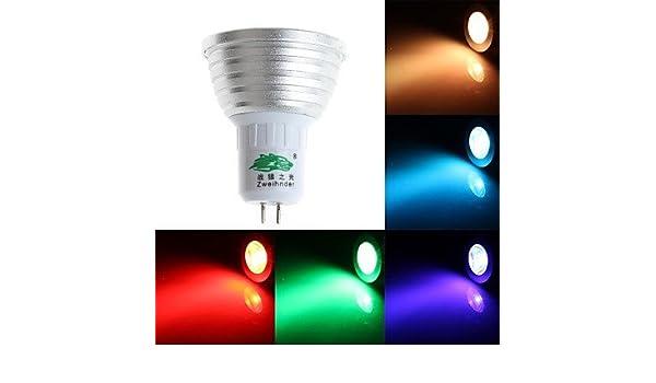 HJLHYL MND Focos Regulable/Control Remoto/Decorativa Zweihnde S GU5.3 3 W 1 LED Dip 200-250 LM K RGB AC 85-265 V - - Amazon.com