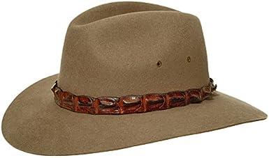 Coolabah Cappello in Feltro AKUBRA cappello feltro di pelo cappello di feltro pelle di coccodrillo