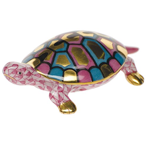 - Herend Baby Turtle Raspberry Fishnet