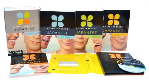 Living Language Japanese, Platinum Edition: A complete beginner through advanced course, including 3 coursebooks, 9 audio CDs, Japanese reading & ... online course, apps, and live e-Tutoring
