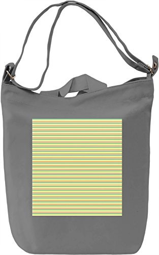Horizontal Stripes Print Borsa Giornaliera Canvas Canvas Day Bag| 100% Premium Cotton Canvas| DTG Printing|