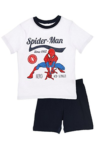 Spiderman Printed Pajama Set T Shirt With Short Sleeves and Short (Blue, 3 Years)