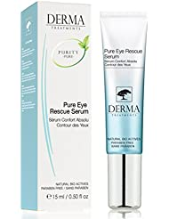 Eye Serum for Dark Circles, Puffiness , Eye Bags, Crow's Feet Ingredients, Aloe Vera & Allantoin - Best Eye Treatment for Men and Women -Instant results on All Skin Types - MADE IN UK