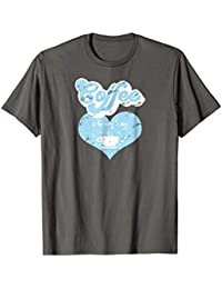 Novelty Coffee T-shirt - Coffee is the Way to My Heart, Blue