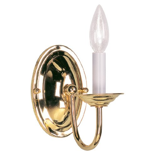 Neon Imperial Sign (Livex Lighting 4151-02 Wall Sconce with No Shades, Polished Brass)