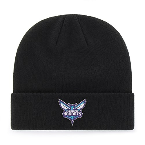 fan products of NBA Charlotte Hornets OTS Raised Cuff Knit Cap, Black, One Size