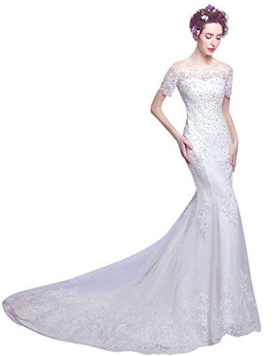 Vimans Damen Schlauch Kleid Weiß yRujFaq8K