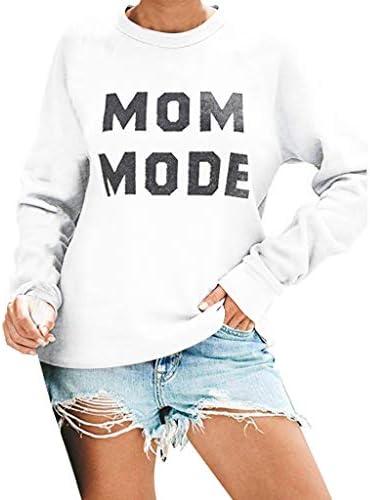 [해외]Meikosks Women`s Crewneck Long Sleeve Pullover Letter Print Sweatshirts Casual Tops Ladies T-Shirt / Meikosks Women`s Crewneck Long Sleeve Pullover Letter Print Sweatshirts Casual Tops Ladies T-Shirt White