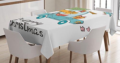 Christmas Tablecloth Ambesonne Vintage Rectangular