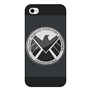 good case Customized Marvel Series Case for iphone 5c Marvel Comic Hero S.H.I.E.L.D. Logo iphone 5c Case, Only Fit for Apple iphone 5c (Black Frosted Case) by waniwa