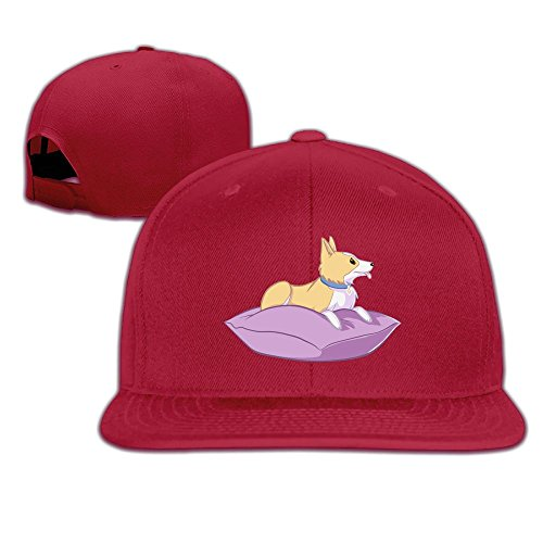 JimHappy KARIMEW Corgi Apparel Fashion Trucker Cap Durable Baseball Cap Hats Adjustable Peaked Sandwich Cap]()
