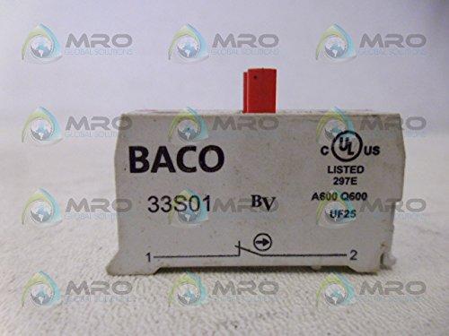 (BACO 33S01 Contact Block, 1 NC, Screw Terminal, 6 AMPS, 120 VAC, 3 AMPS, 240 VAC)