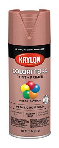 Krylon K05593007 COLORmaxx Spray Paint, Aerosol, Rose Gold