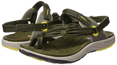 Sandalias Verde Dusty para Merrell Mujer Olive Vesper Convertible 4qfFn1wnP6