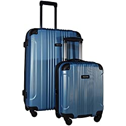 "Kenneth Cole Reaction Out of Bounds 2-Piece Set: 28"" Spinner and Expandable Under Seat Bag (Ocean Blue)"