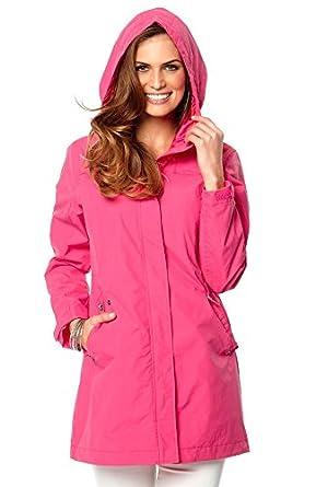 Ladies Pink Mac Trench Coat Size 38 uk 12: Amazon.co.uk: Clothing