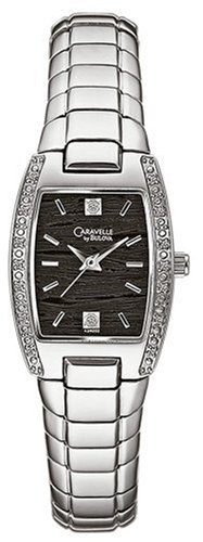 Caravelle by Bulova Women's 43R003 Diamond Accented Black Dial Watch