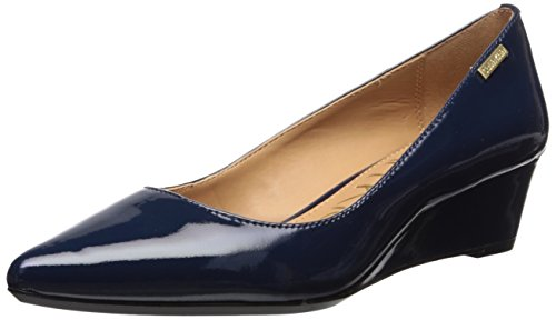 Calvin Klein Women's Germina Pump, Navy, 7.5 Medium US