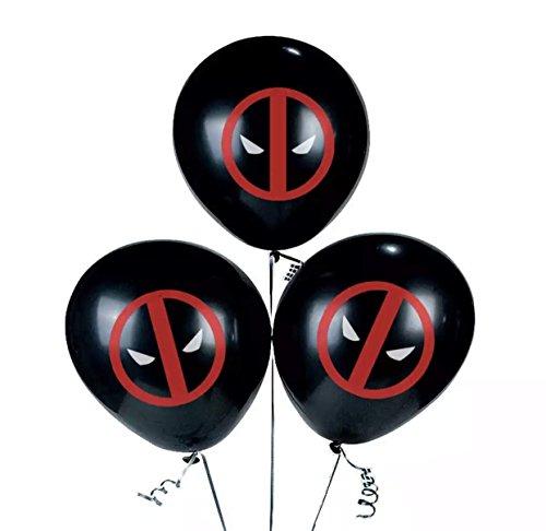 Marvels Deadpool 12 Piece Latex Party Balloon Set 12 inch Black -