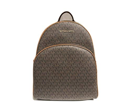 MICHAEL Michael Kors Abbey Jet Set Large Leather Backpack (Brown 2018)