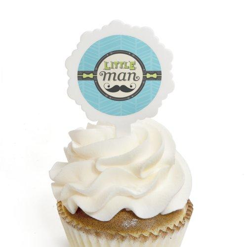 Dashing Little Man Mustache Party - Cupcake Picks