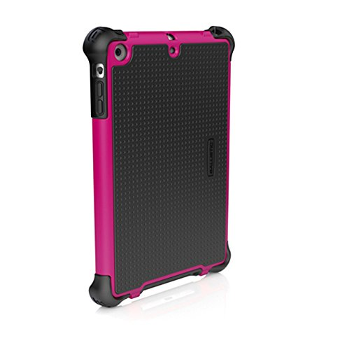 Ballistic Tough Jacket Case with Stand for Apple iPad mini, iPad mini 2, and iPad mini 3 - Retail Packaging - Hot Pink/Black
