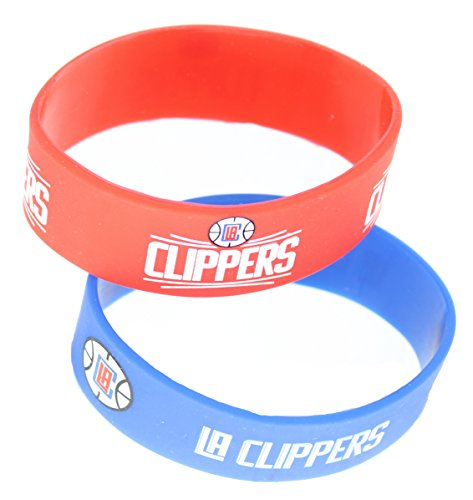 NBA Los Angeles Clippers Wide Bracelets (2-Pack), Normal, Blue (Clippers Wristband)