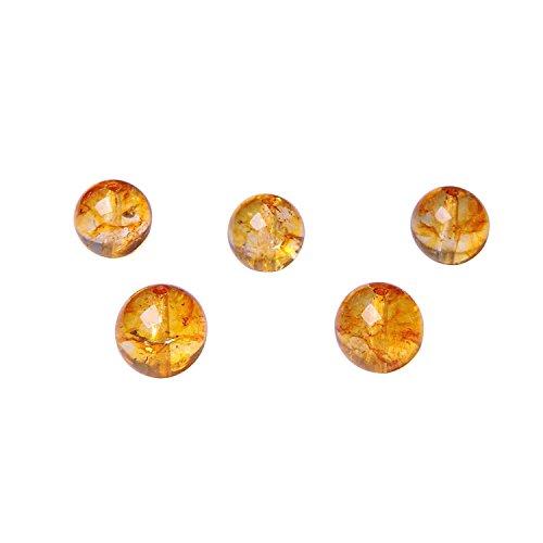 - Satyamani Natural Energised Citrine 10 mm Beads (Pack of 5 pc.)