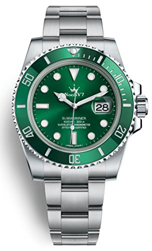 Sub Mariner Date Watch (Luxury High End Swiss REP V7 Crown Iconic Sub Date Automatic Watch Sapphire 316L Stainless Steel Green Dial Ceramic Bezel 116610lv)